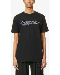 Trapstar Hyperdrive Brand-print Cotton-jersey T-shirt - Black
