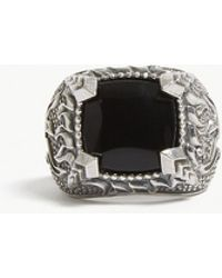 Emanuele Bicocchi - Onyx Flame Sterling Silver Ring - Lyst