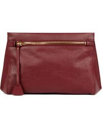 Mon Purse - Rendezvous Oversized Leather Clutch - Lyst