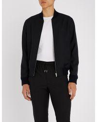 ff4a68726 Sandro Ventura Velvet Bomber Jacket in Black for Men - Lyst