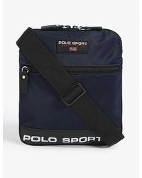 Polo Ralph Lauren Sport Logo Large Nylon Cross-body Bag - Blue