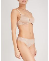 Chantelle Courcelles Stretch-jersey Spacer Bra - Natural