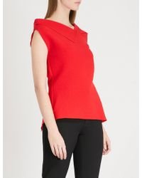 Roland Mouret - Raywell Wool-crepe Top - Lyst