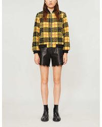 Claudie Pierlot Fazioh Checked Faux-fur Jacket - Multicolour