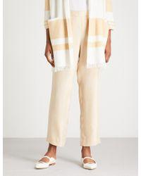 St. John - Relaxed-fit Gabardine Trousers - Lyst