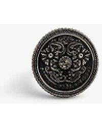 Alexander McQueen Medallion Ring - Metallic