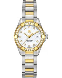 Tag Heuer - Way1453.bd0922 Aquaracer 18ct Gold And Stainless Steel Watch - Lyst