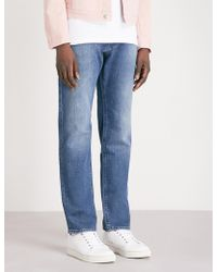 BOSS - Wash-out Relaxed-fit Tapered Jeans - Lyst