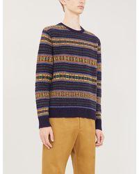 Polo Ralph Lauren Fair Isle Wool-blend Sweater - Blue