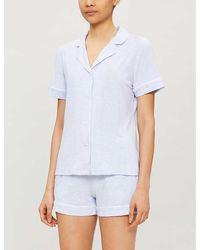 Derek Rose Ethan Stretch-jersey Pyjama Set - Blue