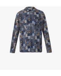 Slowear Patchwork Relaxed-ft Cotton Shirt - Blue