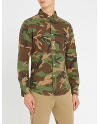Polo Ralph Lauren - Slim-fit Camouflage-print Cotton Shirt - Lyst