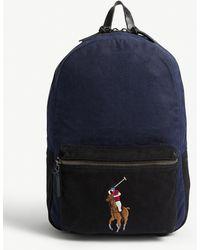 Polo Ralph Lauren Polo Logo Canvas Backpack - Blue