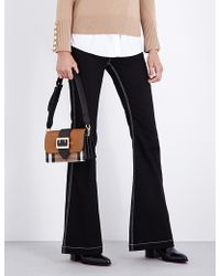 Burberry Flared Mid-rise Jeans - Black