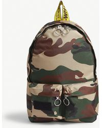 Off-White c/o Virgil Abloh Camouflage Canvas Backpack - Multicolour