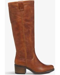 Bertie Tyrus Grained Leather Knee-high Boots - Brown