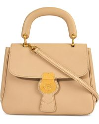 Burberry Trench Leather Crossbody Tote - Natural