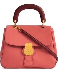 Burberry Trench Leather Crossbody Tote - Pink