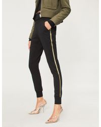 Forever Unique - Side-striped Stretch-jersey Jogging Bottoms - Lyst
