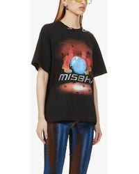 MISBHV Globe Crystals Cotton-jersey T-shirt - Black
