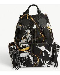 Burberry - Splash Print Medium Backpack - Lyst
