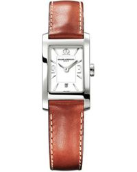 Baume & Mercier - M0a10186 Hampton Stainless Steel And Leather Watch - Lyst
