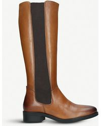 28daf7084df Lyst - ALDO Iboewet Suede Over-the-knee Boots in Natural
