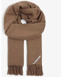 Acne Studios Canada Tasselled Wool Scarf - Brown