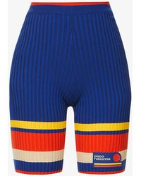 Paco Rabanne - Tennis Striped Cotton-blend Knitted Shorts - Lyst