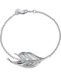 Shaun Leane - White Feather Diamond And Mother Of Pearl Bracelet - Lyst