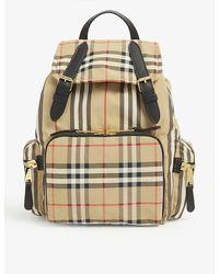 Burberry Vintage Check Medium Nylon Backpack - Multicolour