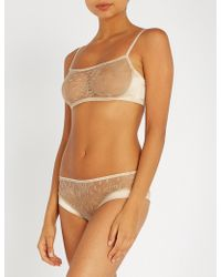 8990f95ed37 Myla - Darling Row Lace And Satin Bralette - Lyst