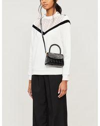 Claudie Pierlot Mirrored-button Cotton-jersey Sweatshirt - White