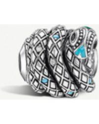 Thomas Sabo Snake Sterling Silver Karma Bead - Metallic