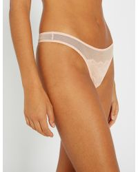 Triumph - Lace Spotlight Stretch-lace Thong - Lyst