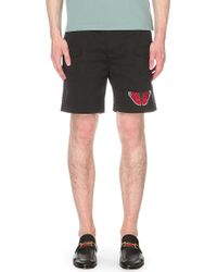 Gucci Butterfly Cotton-twill Cargo Shorts - Natural