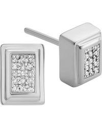 Monica Vinader - Baja Deco Sterling Silver And Diamond Earrings - Lyst