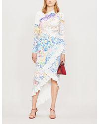 Mary Katrantzou - Lenda Ruffled Crepe Dress - Lyst