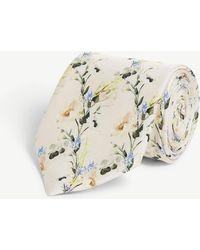 Ted Baker Hyatie Floral-print Silk Tie - Multicolour