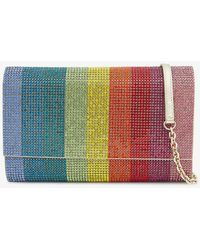 Judith Leiber Fizzoni Crystal Satin Clutch - Multicolor
