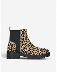 Steve Madden Gliding Leopard-print Leather Boots - Brown