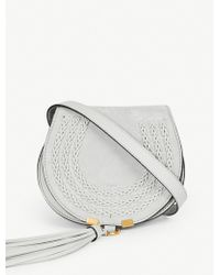 Chloé | Mini Marcie Saddle-stitch Suede Cross-body Bag | Lyst