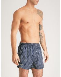 Lacoste - Honeycomb-pattern Relaxed-fit Cotton Boxers - Lyst