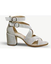 Office | Market Suede Block Heel Sandals | Lyst