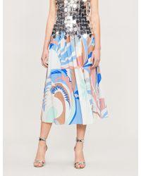 Emilio Pucci - Acapulco Print Midi Skirt - Lyst