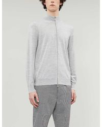 Brunello Cucinelli Funnel-neck Wool And Cashmere-blend Jumper - Grey