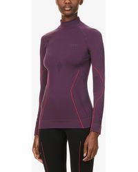 FALKE Maximum Warm Turtleneck Stretch-woven Top - Purple