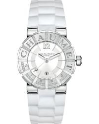 """Chaumet W17624-35a Class One """" Paris"""" Stainless Steel Diamond And Rubber Watch - Metallic"""