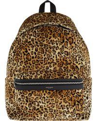 Saint Laurent - City Velour Backpack - Lyst