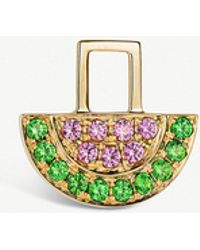 The Alkemistry - Robinson Pelham 14ct Yellow Gold And Sapphire And Tsavorite Watermelon Earwish - Lyst